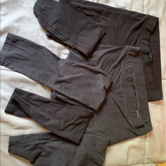 Gray and Black Leggings